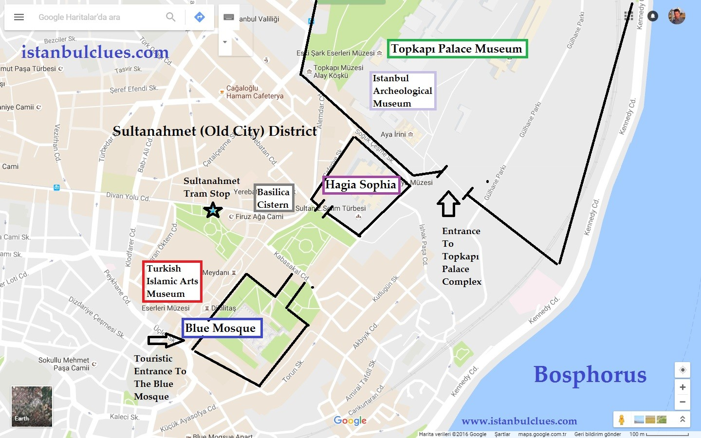 Best Museums To Visit In Istanbul old city museum map