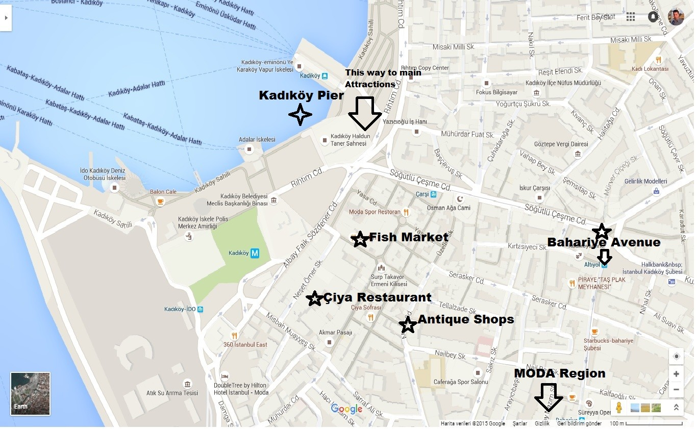 Things to do in Kadikoy map directions location