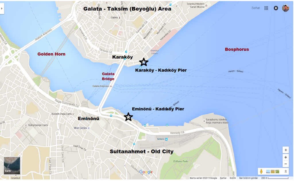 How To Get Kadikoy from Karakoy (Taksim) - Eminonu (Sultanahmet)