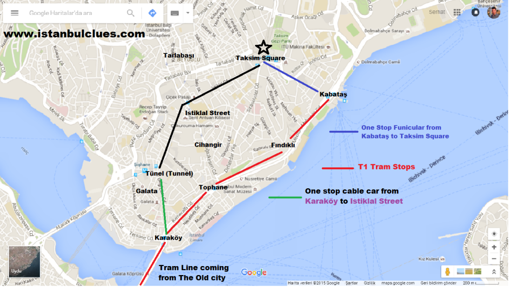 How To Get From Sultanahmet To Taksim By Tram and Funicular