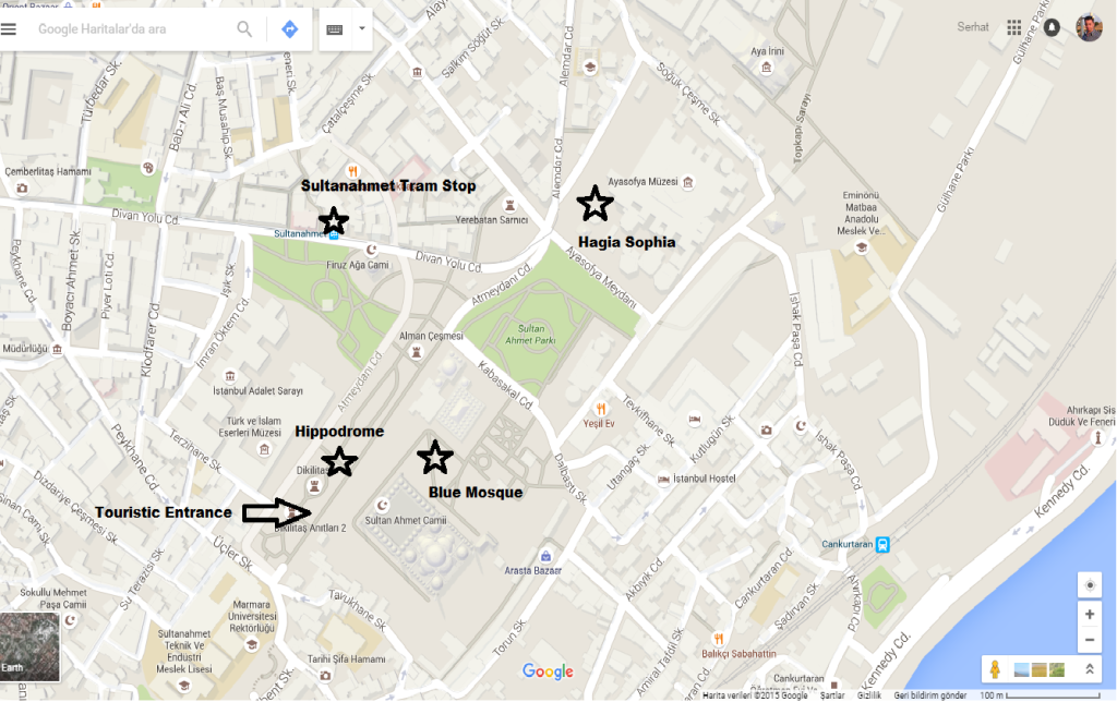 How to get to Istanbul Blue Mosque Map