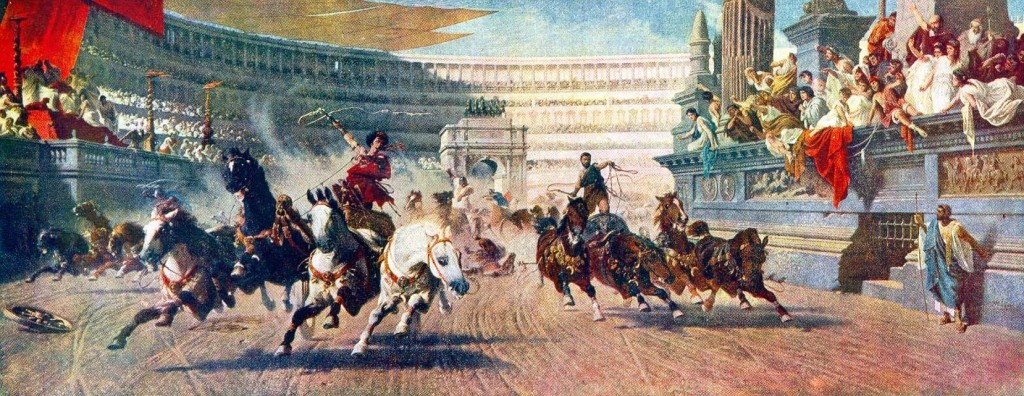 There were mostly four-horse chariots (quadrigae) races.