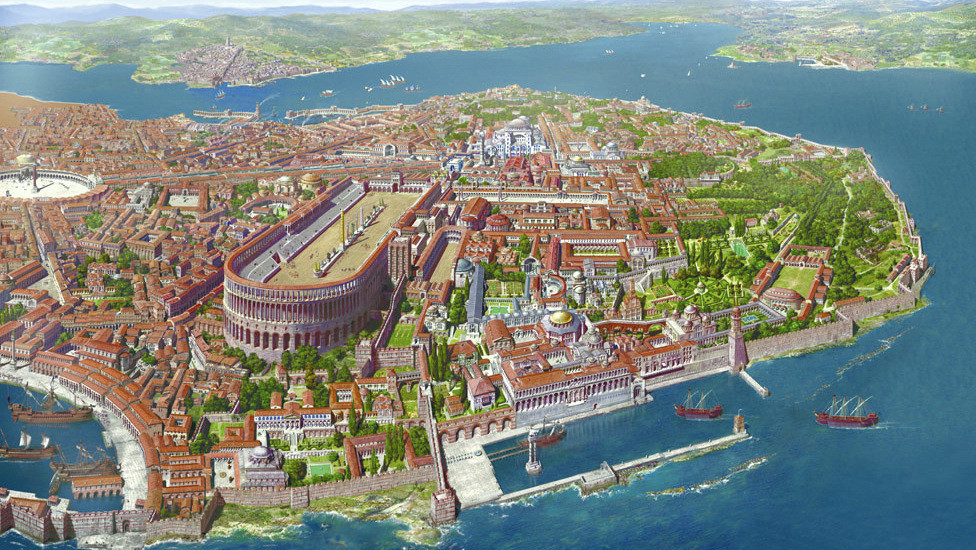 Roman Empire Map Constantinople The Capital