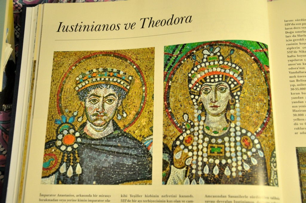 Emperor Justinian and his beloved wife Theodora. She had a great influence on Emperor Justinian.