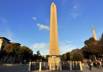 Obelisk of Emperor Theodosius I of Roman Empire.