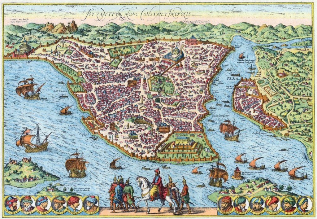 Map Of Istanbul In His Time Sultan Mehmed The Conqueror Facts