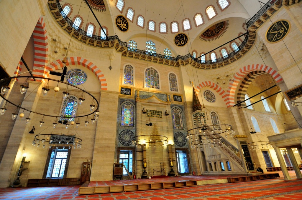 Great center design of the Suleymaniye Mosque.