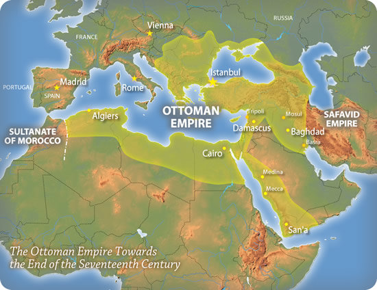 Ottoman Empire Map Under Sultan Suleiman The Magnificent