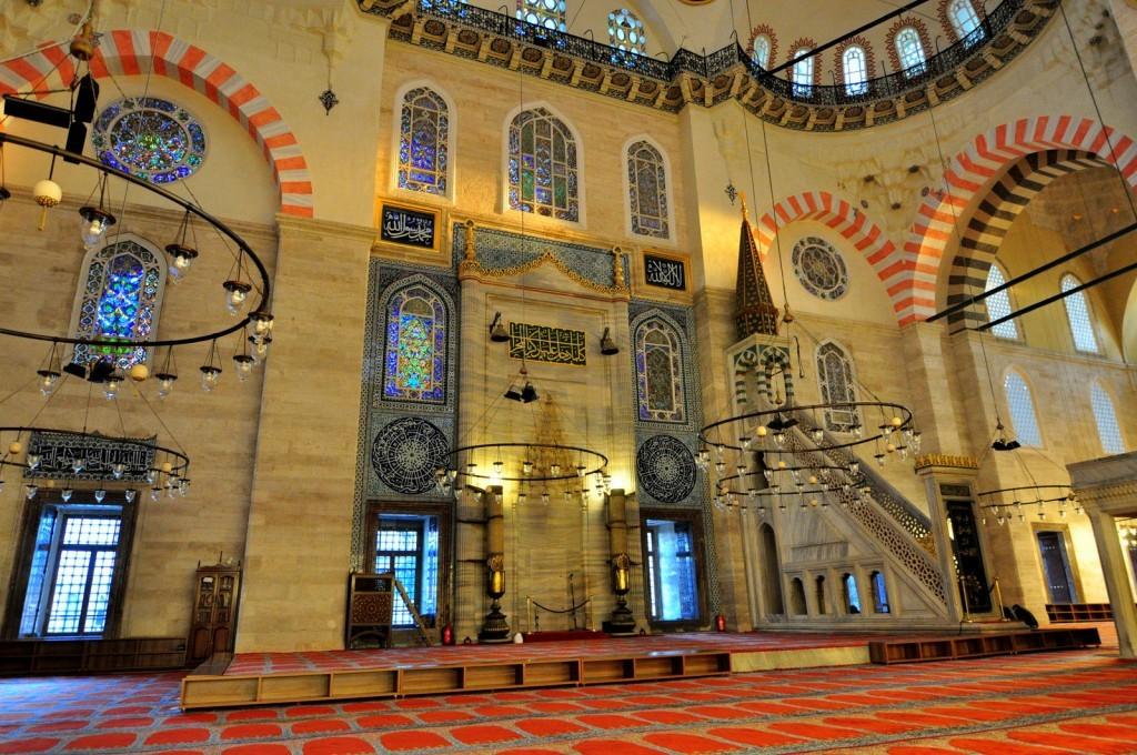 Istanbul Suleymaniye Mosque Facts Mihrab And Minbar