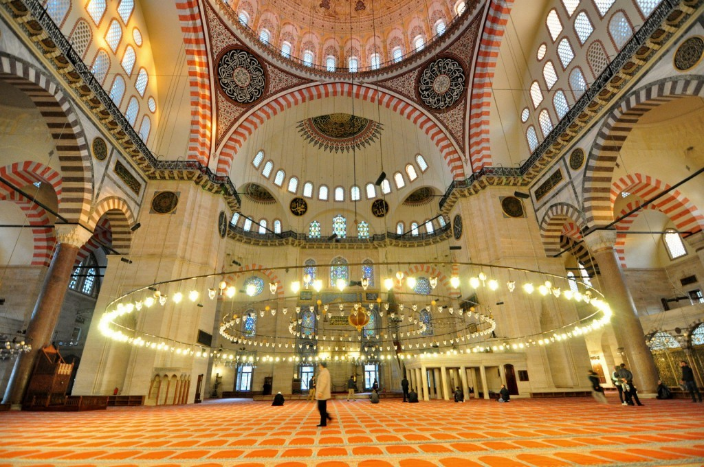 Istanbul Suleymaniye Mosque Facts, Plan, History, Photos Interior Inside