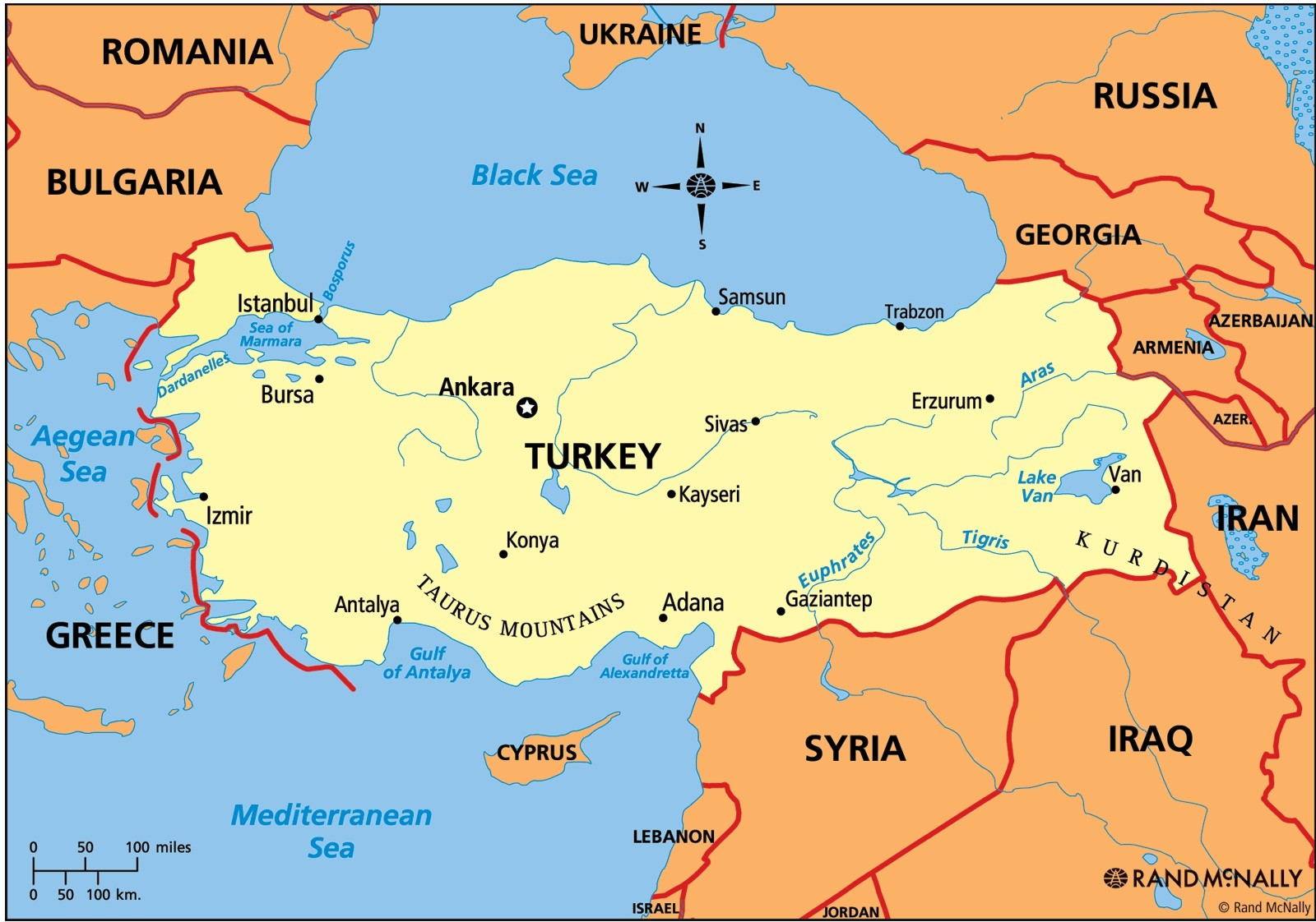 Anatolia Map and Turkey Map