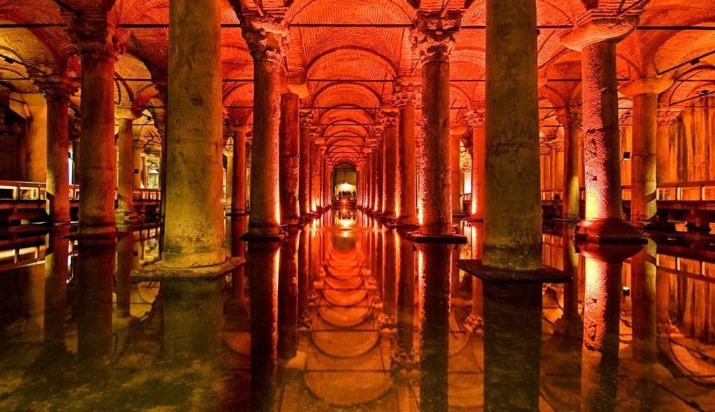 Underground Cistern in Istanbul, Turkey