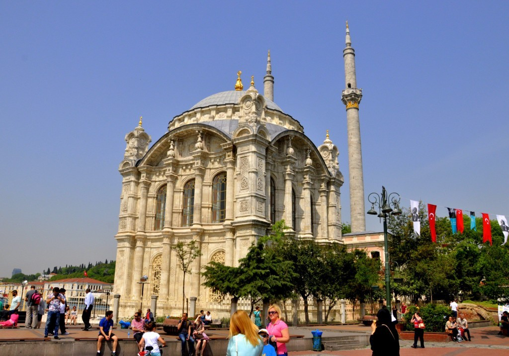 Baroque Mosque located at the Bosphorus Shores