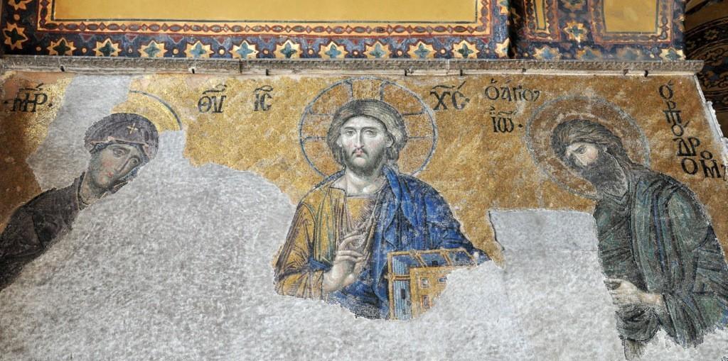 Hagia Sophia Deesis Mosaic Panel