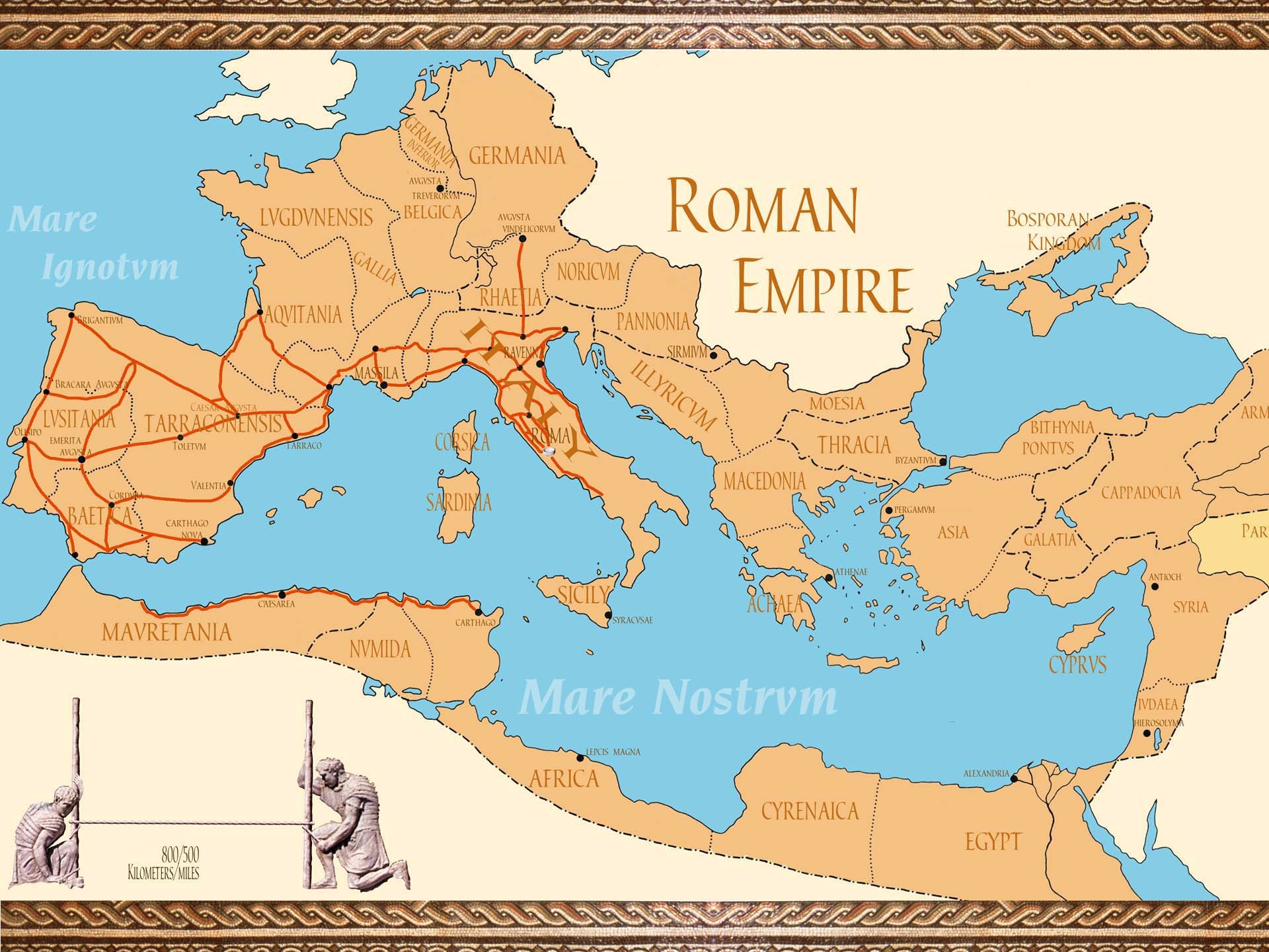 Roman Empire Map Cities