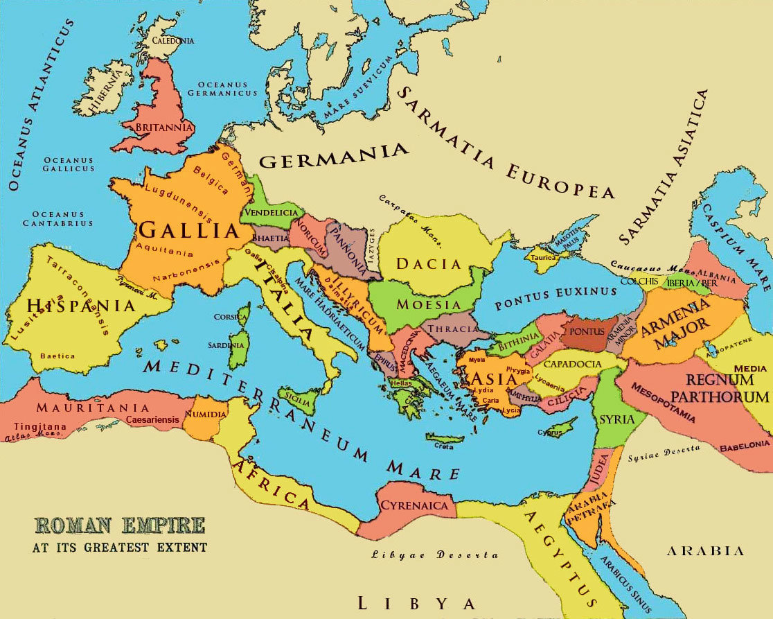 roman empire provinces map