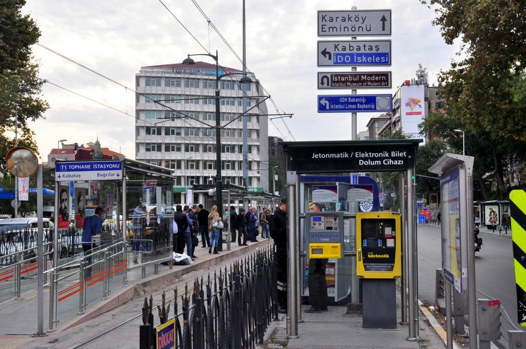how to use istanbul tram t1 - istanbulkart biletmatik and jetonmatik tram stations