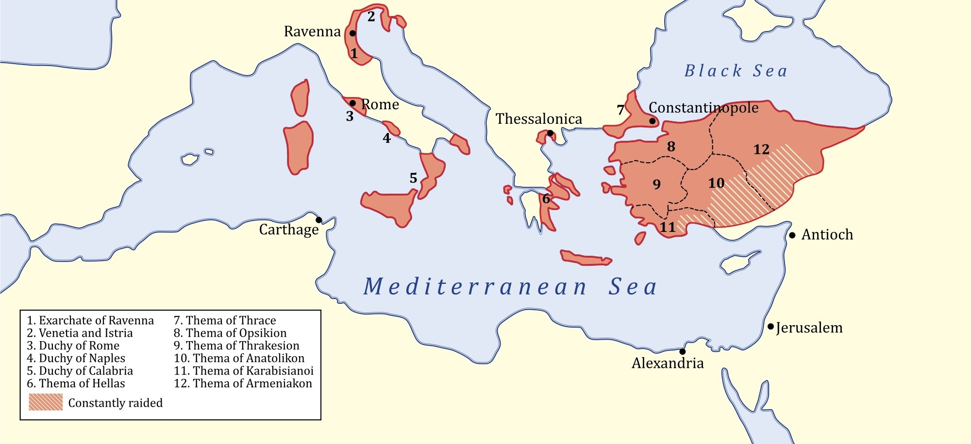 map-of-byzantine-empire-isaurian-dynasty