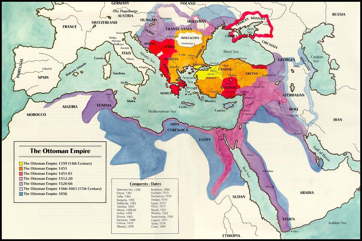 Ottoman Empire Map At Its Height, Over Time, Timeline