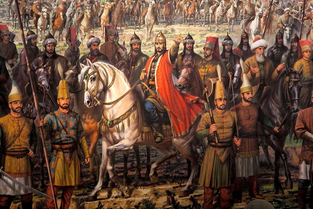 Sultan Mehmed The Conqueror leading Fall of Constantinople
