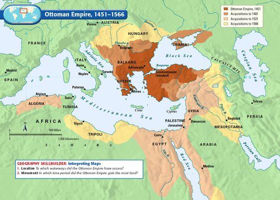 Map Of Ottoman Empire 1500 Spread In Europe