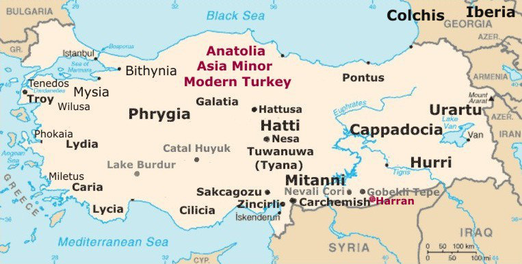 Cappadocia Private Tour Guide Anatolia Asia Minor Map