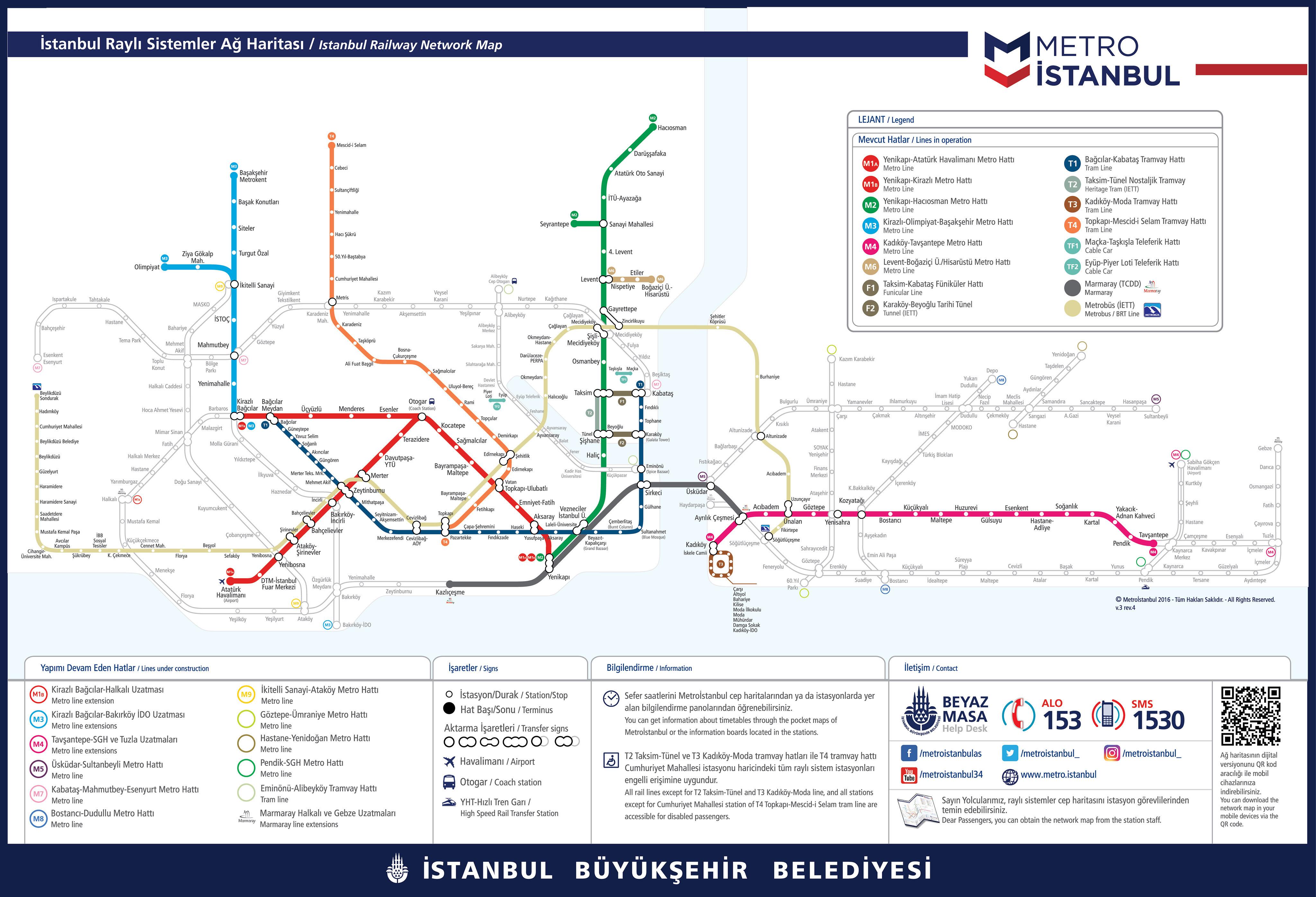 Istanbul Metro Map & Tram Map PDF Files 2018 - Istanbul Clues