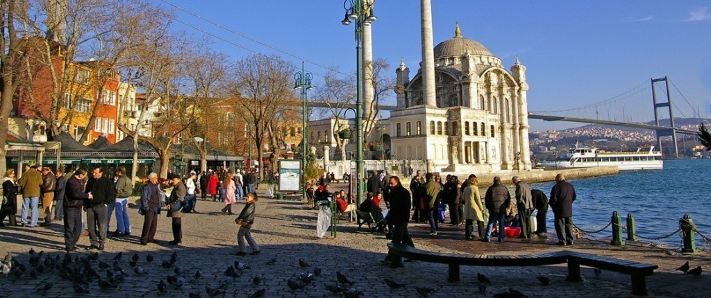 Istanbul Ortakoy Mosque located in Ortaköy Neighborhood.