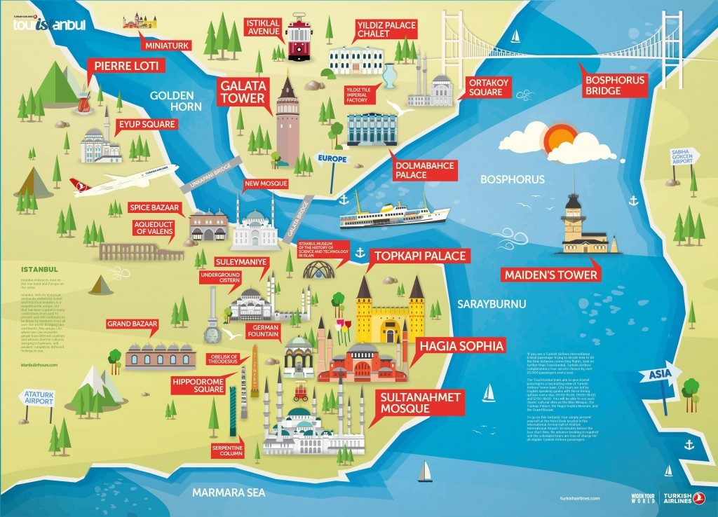 Istanbul Historic Peninsula Sightseeing Map