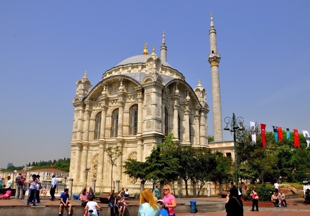 Ortaköy Mosque is also known as Büyük Mecidiye Mosque.