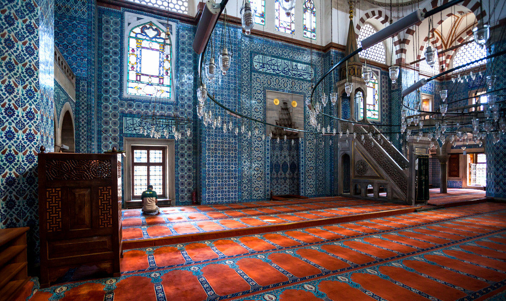 Istanbul Rustem Pasha Mosque History interior decoration
