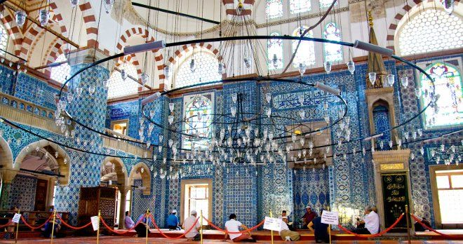 Istanbul Rustem Pasha Mosque Architecture, Decoration