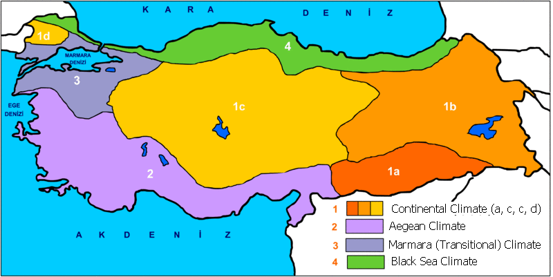 Turkey Weather Map Anatolia Climate