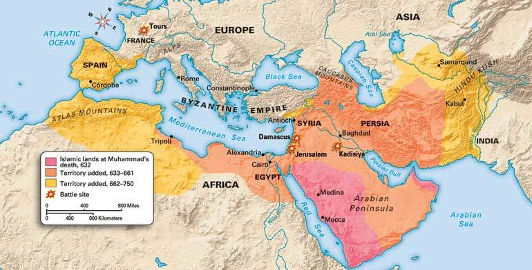 Spread Of Islam & Byzantine Empire Expansion of Caliphate