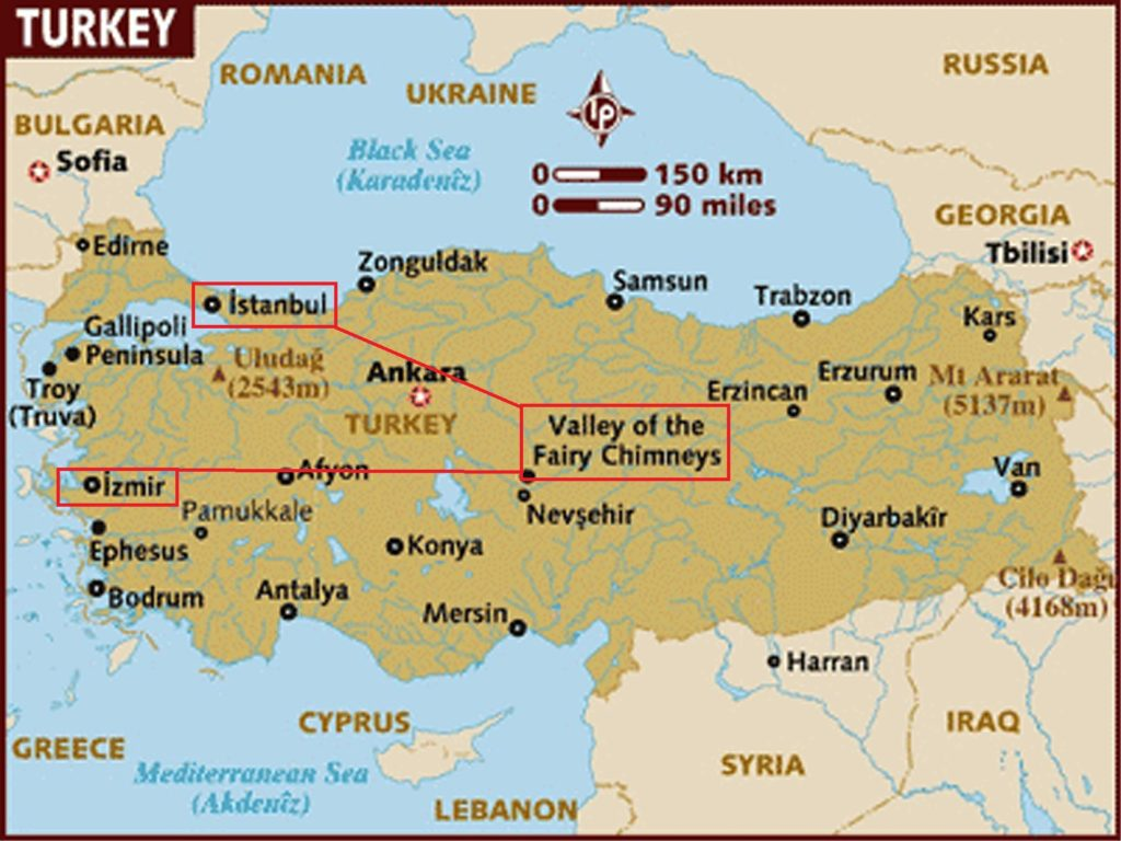 Day Trips To Cappadocia From Istanbul Ephesus On a Map