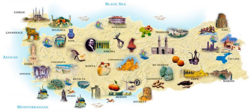 Things to do in Turkey Touristic Attractions Map Latest 2018