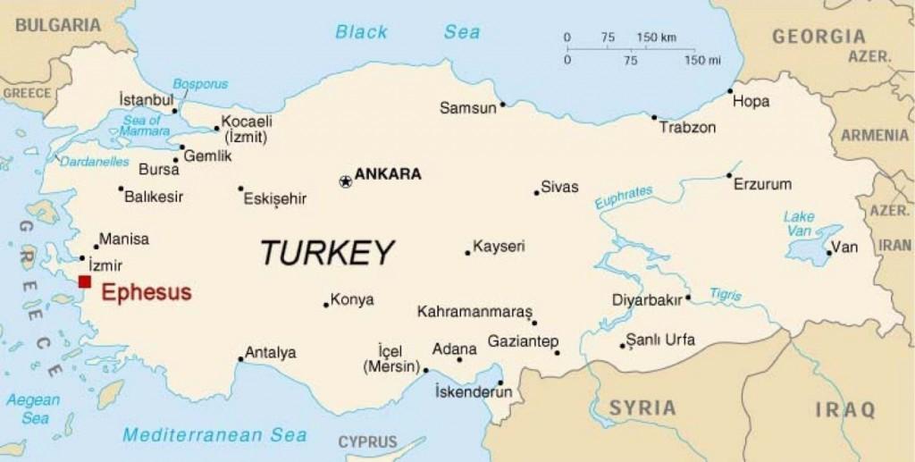 Where is Ephesus Map