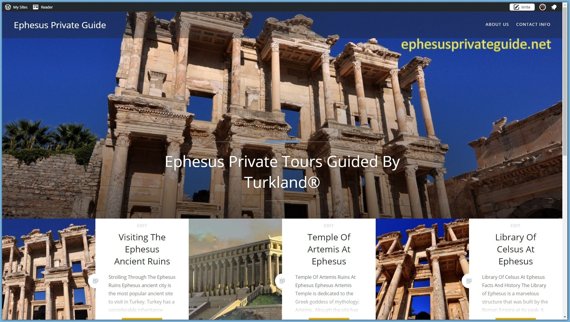Recommended Travel Agency For Ephesus Tours By Turkland
