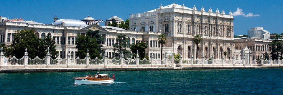 how to get Dolmabahce Palace by public transportation tram t1 stations