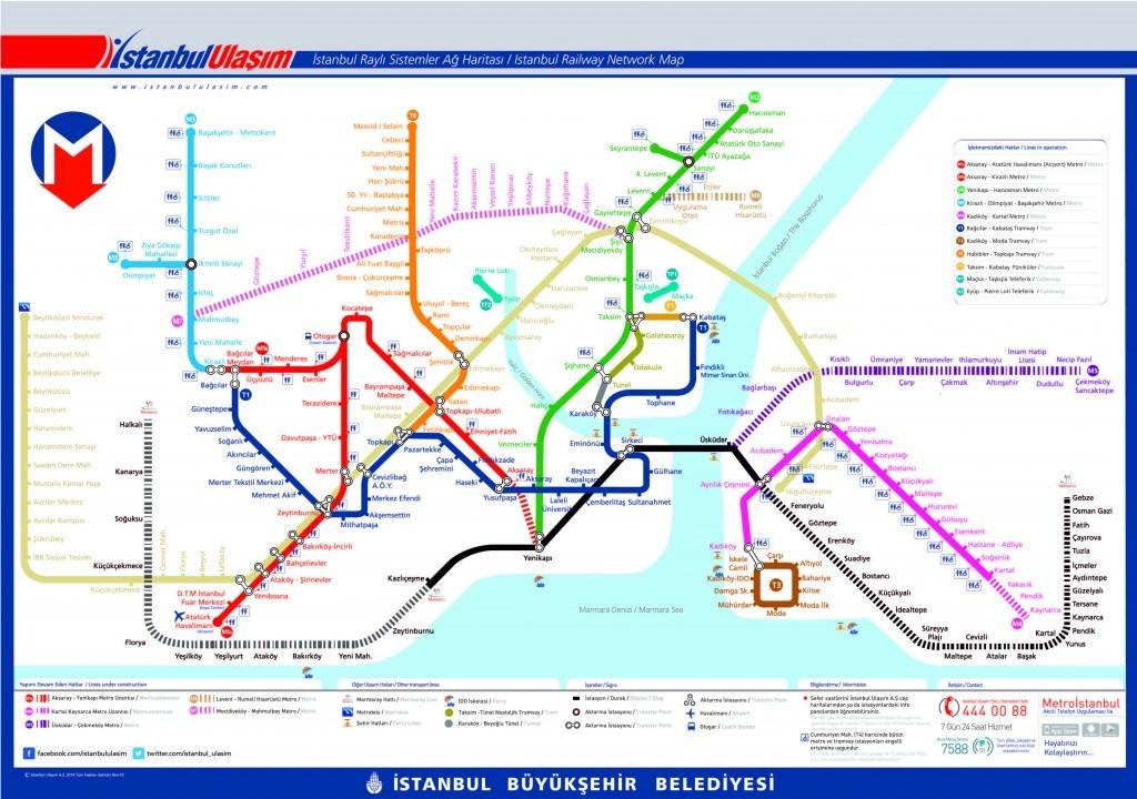 metro map of istanbul 2018
