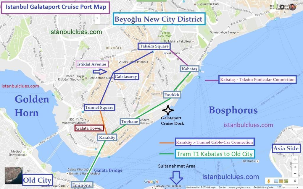 Istanbul Galataport Cruise Ship Terminal Map