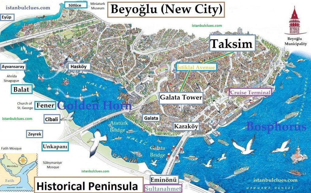 Istanbul Historical Peninsula Map