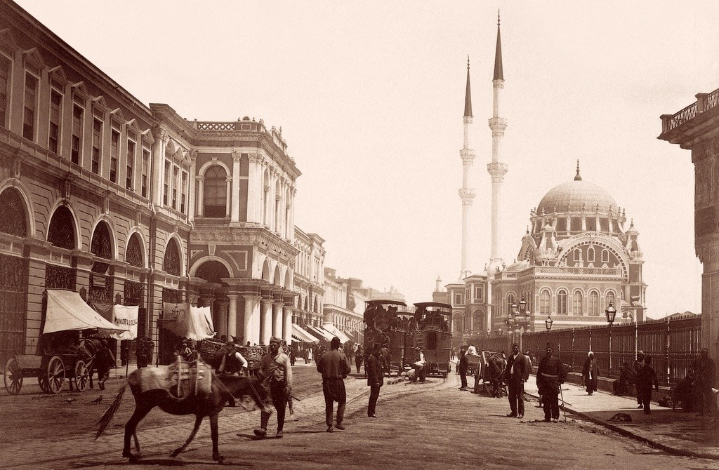 Ottoman Old Istanbul black white nostalgic photographs