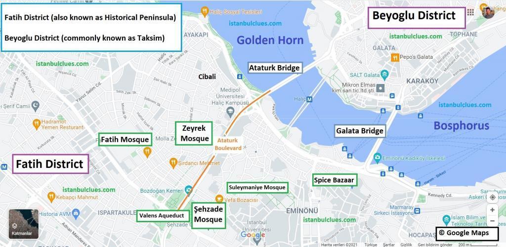 Unkapani Map in Golden Horn