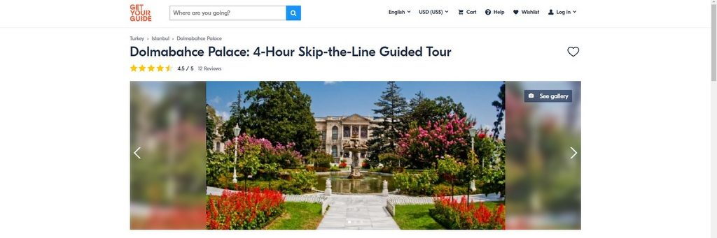 Dolmabahce Palace Fast Track Online Tickets