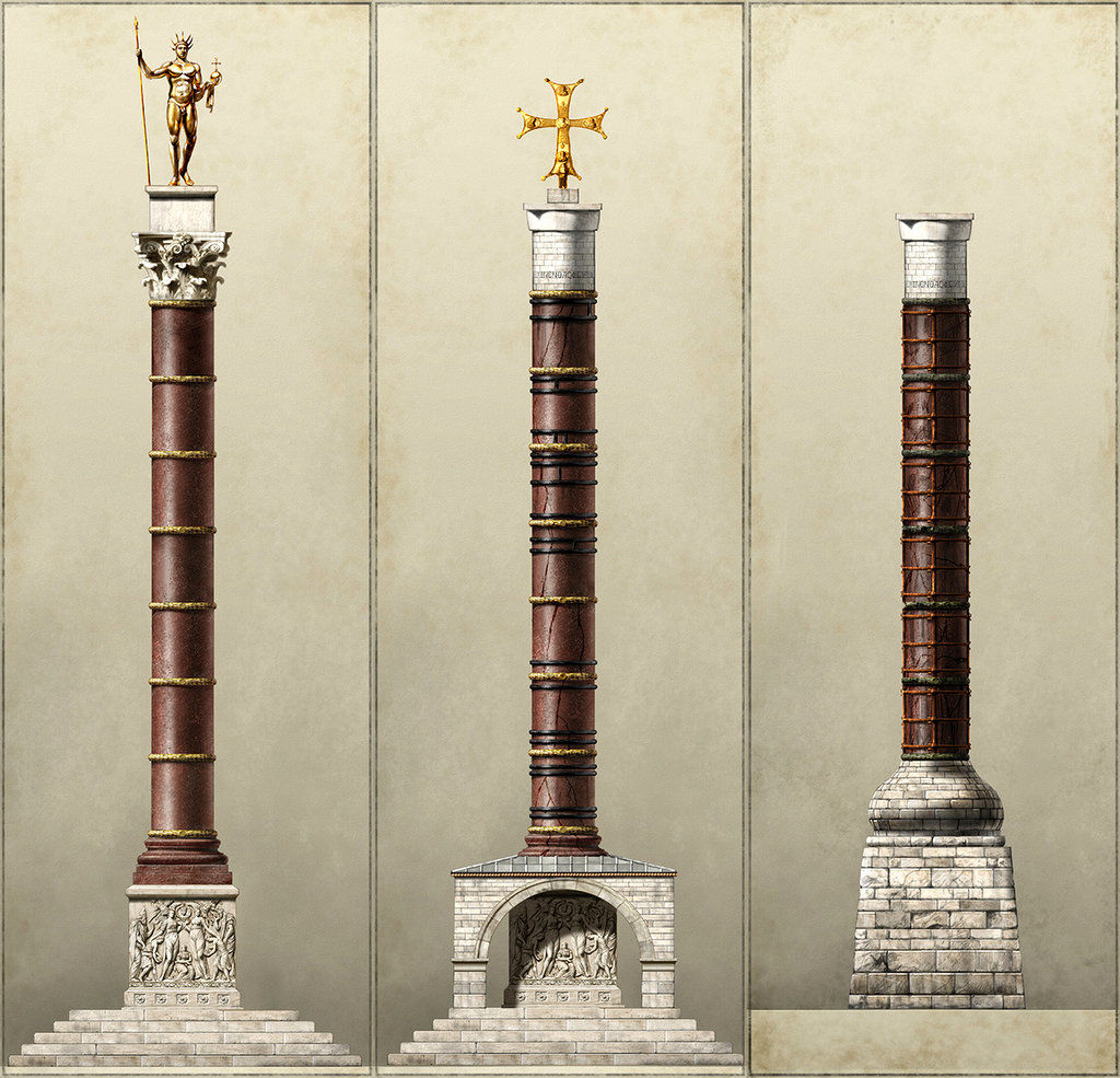 Column of Constantine in Istanbul Turkey