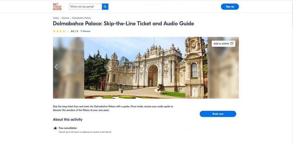 Dolmabahce Palace Tickets